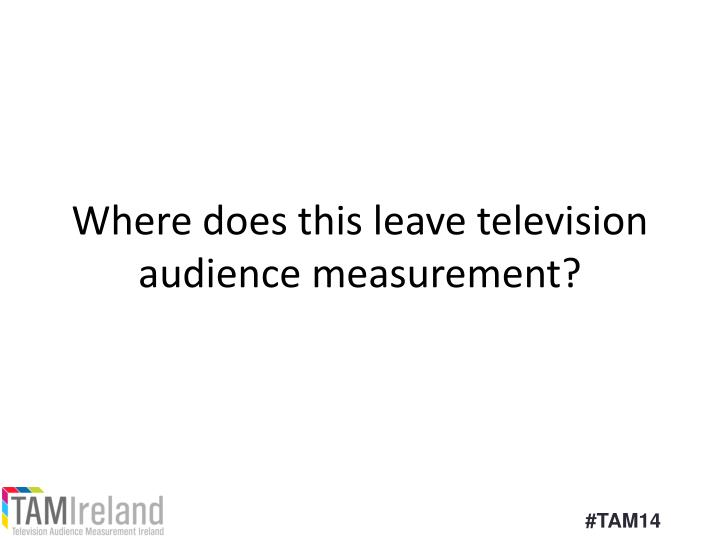 Where does this leave television audience measurement?