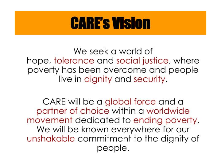 Care s vision