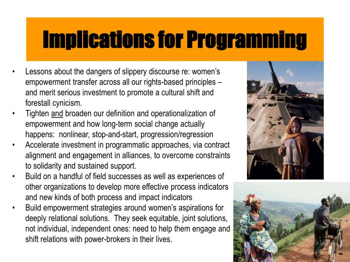 Implications for Programming