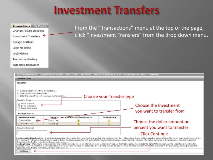 Investment Transfers