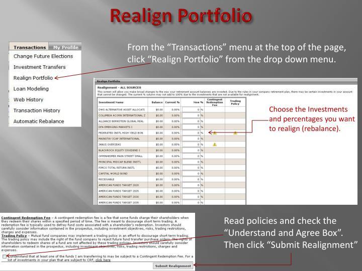 Realign Portfolio