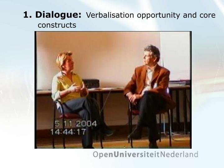 1. Dialogue: