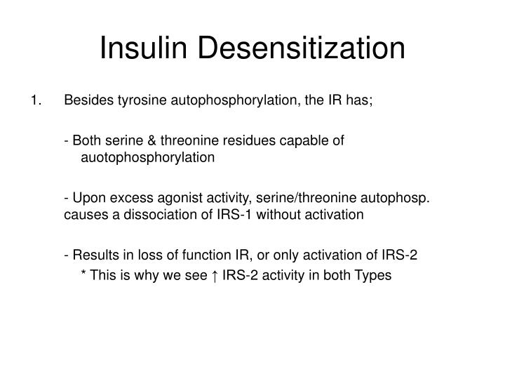 Insulin Desensitization