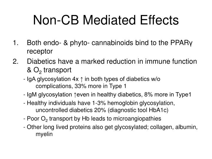Non-CB Mediated Effects