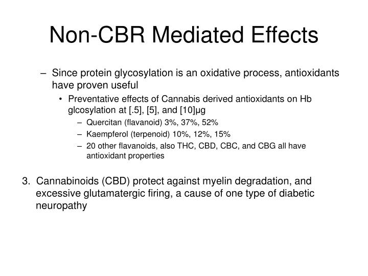 Non-CBR Mediated Effects