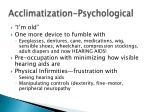 acclimatization psychological