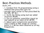 best practices methods mueller 2005