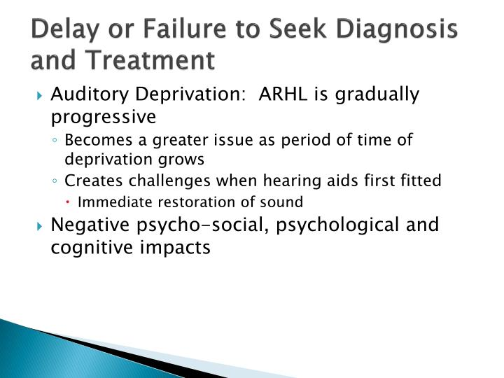 Delay or Failure to Seek Diagnosis and Treatment