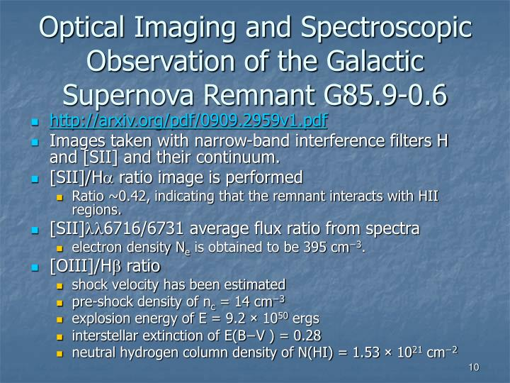 Optical Imaging and Spectroscopic Observation of the Galactic