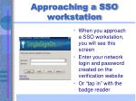 approaching a sso workstation