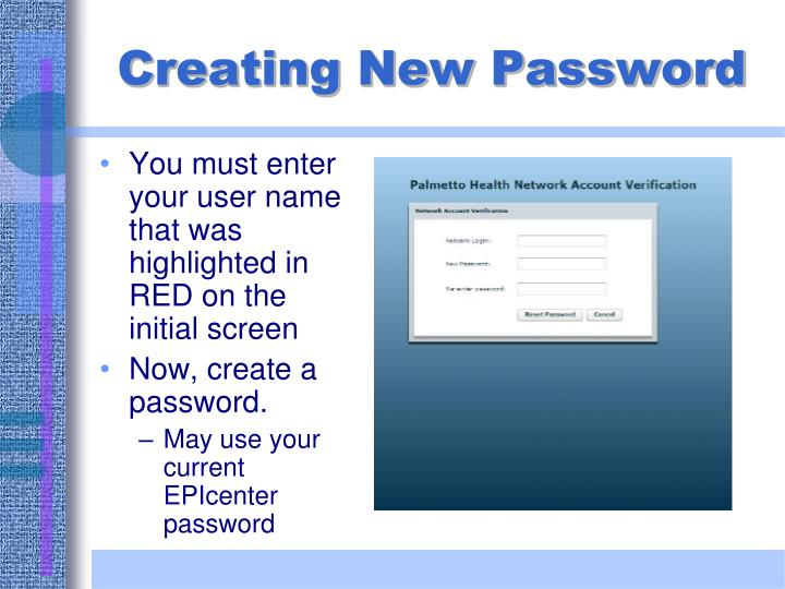 You must enter your user name that was highlighted in RED on the initial screen