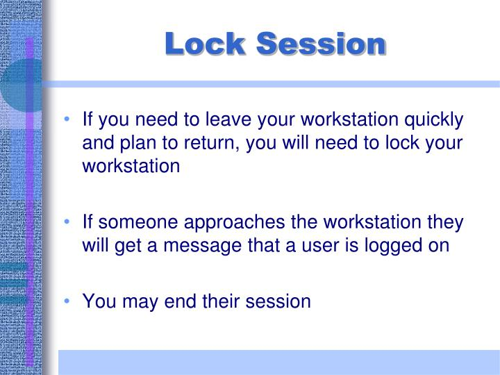 Lock Session