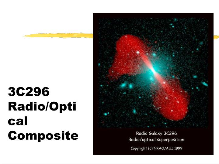 3C296 Radio/Optical Composite