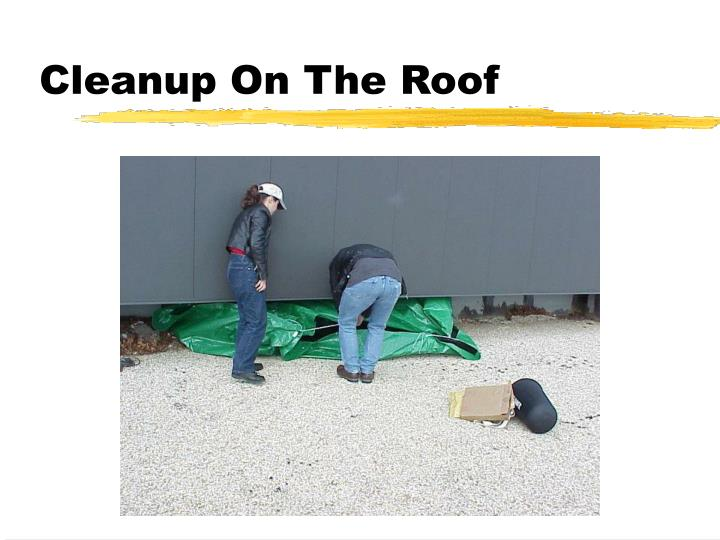 Cleanup On The Roof