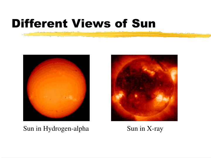 Different Views of Sun