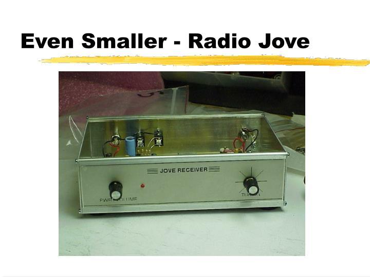 Even Smaller - Radio Jove