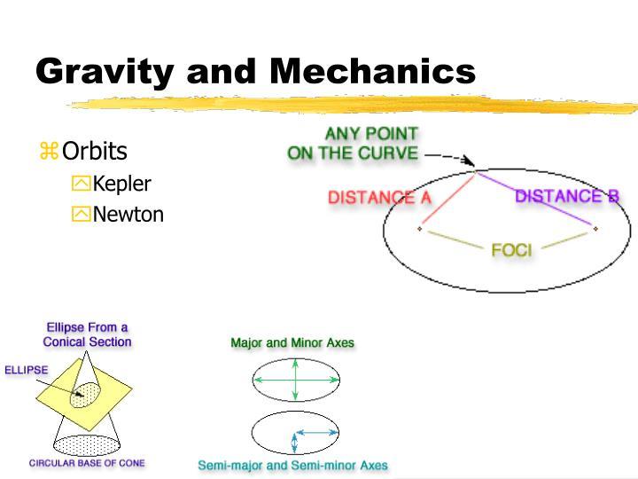 Gravity and Mechanics