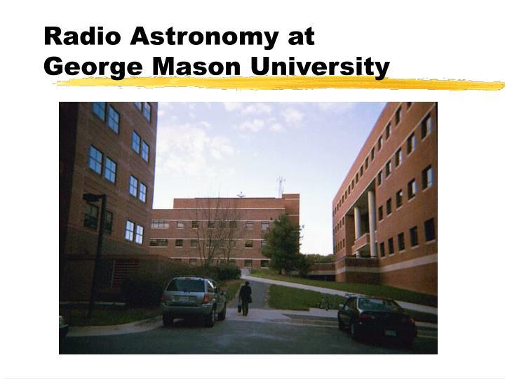 Radio Astronomy at