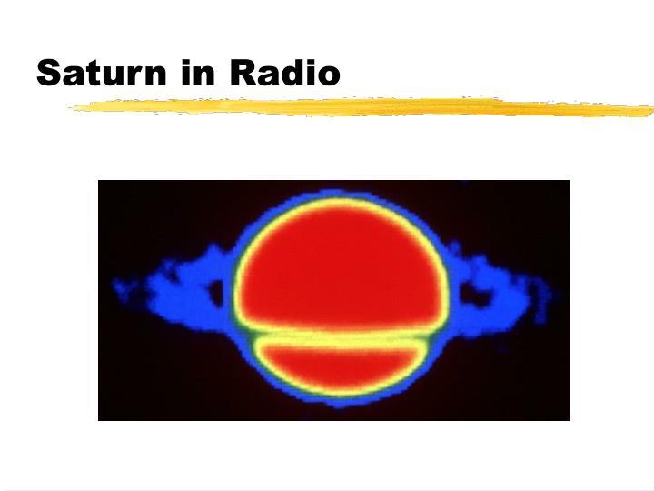 Saturn in Radio
