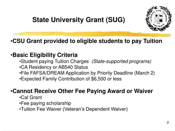 State University Grant (SUG)