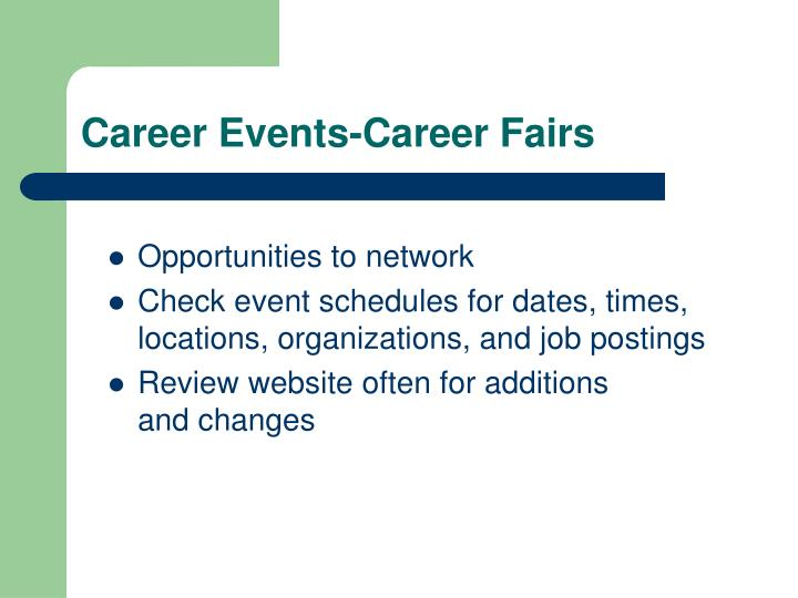 Career Events-Career Fairs
