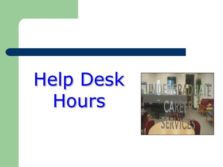 Help Desk Hours