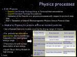 physics processes