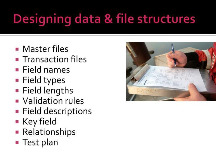 Designing data & file structures