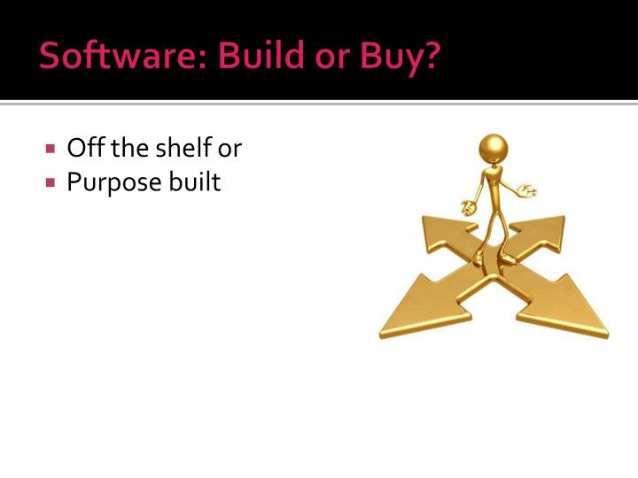 Software: Build or Buy?