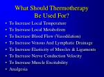 what should thermotherapy be used for