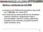 zpr va o vy tov n za rok 20085