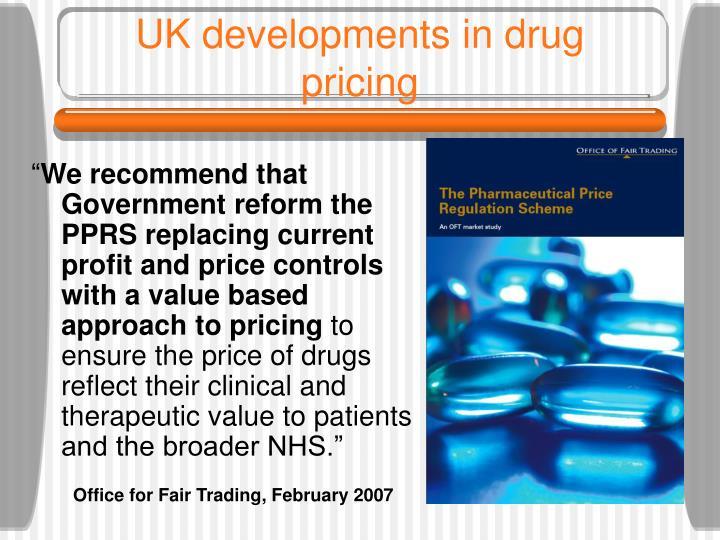 UK developments in drug pricing