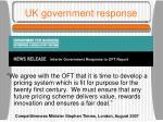 uk government response