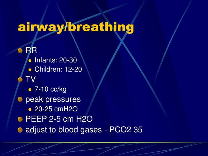 airway/breathing