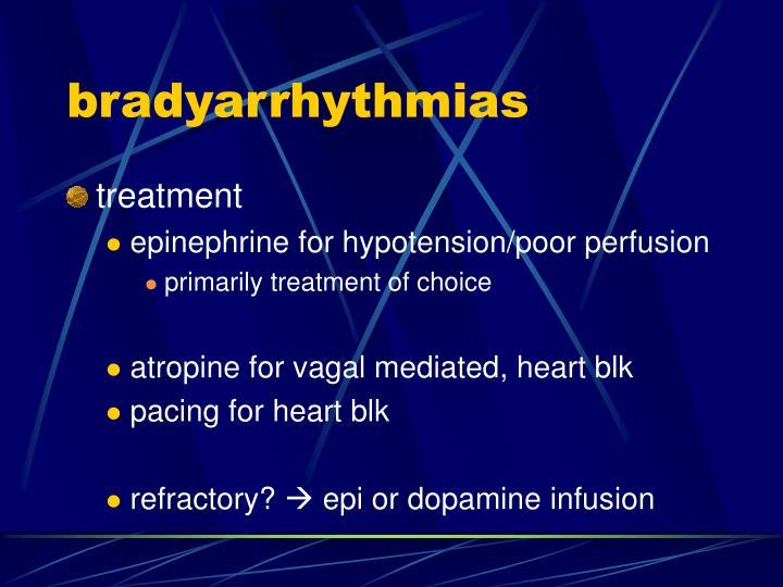 bradyarrhythmias