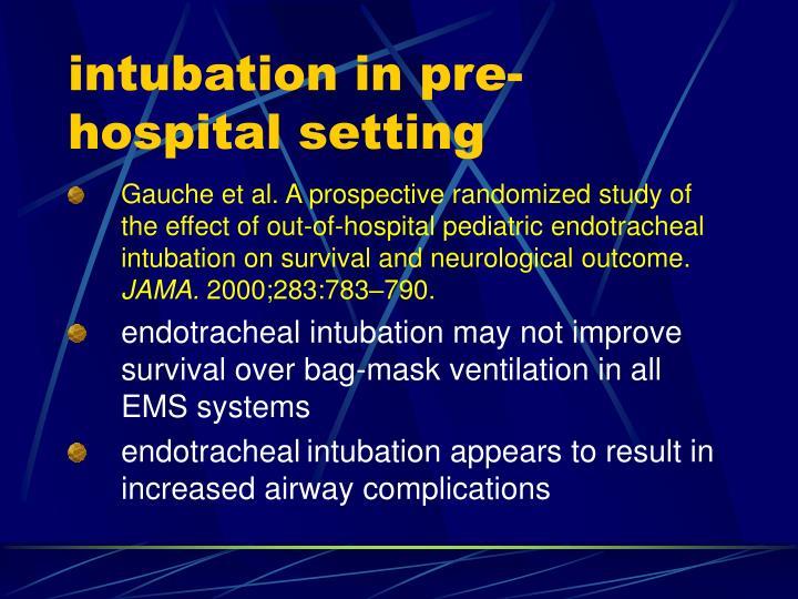intubation in pre-hospital setting
