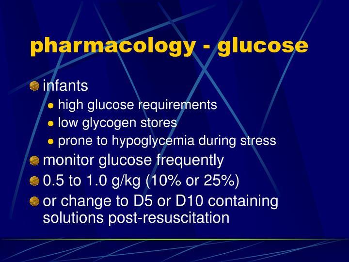 pharmacology - glucose