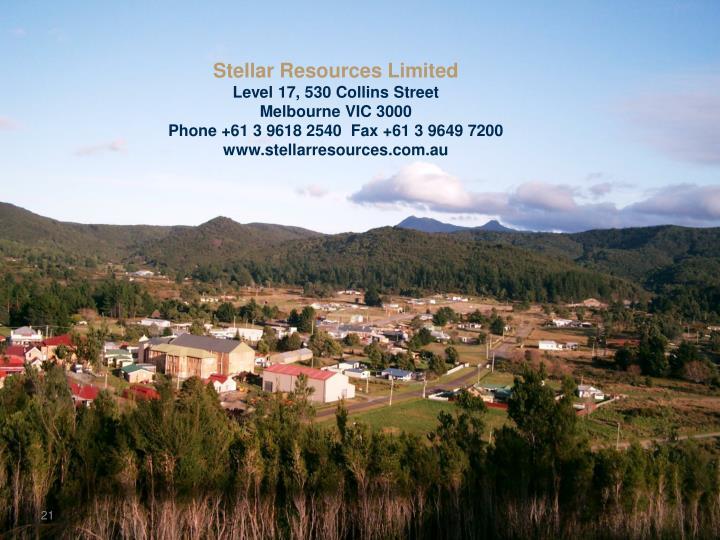 Stellar Resources Limited