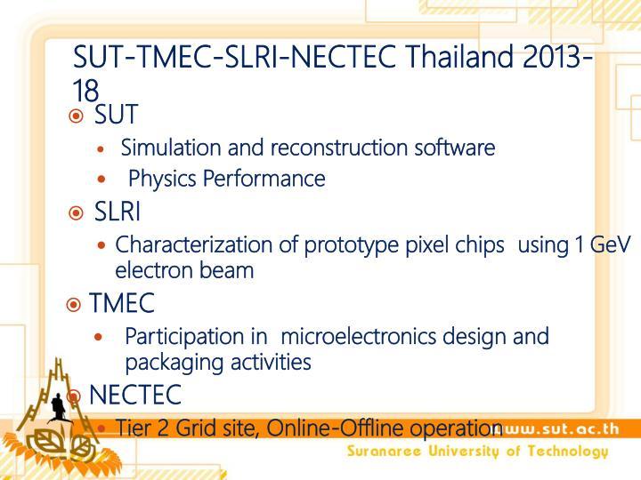 SUT-TMEC-SLRI-NECTEC Thailand