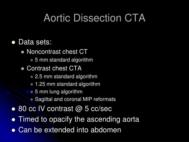 Aortic Dissection CTA