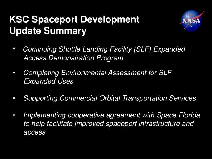 KSC Spaceport Development