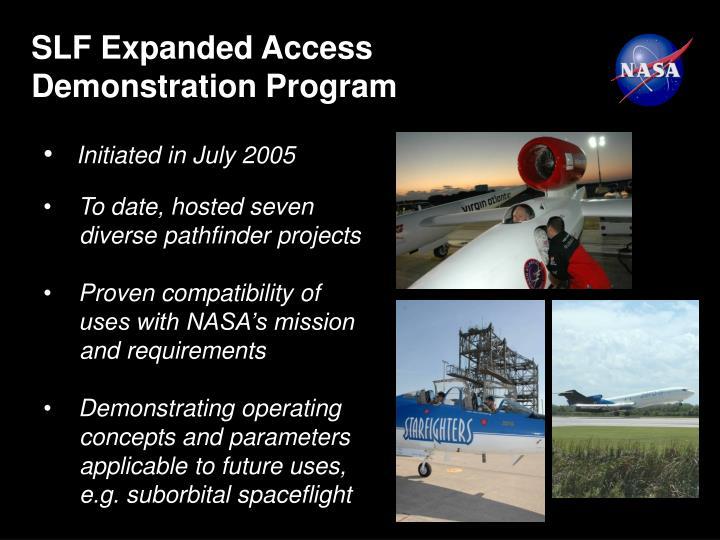 SLF Expanded Access Demonstration Program