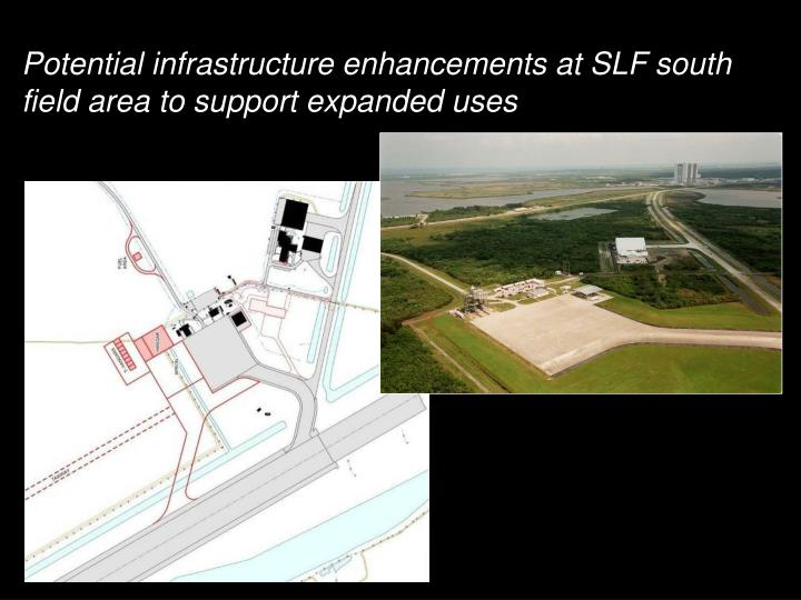 Potential infrastructure enhancements at SLF south field area to support expanded uses