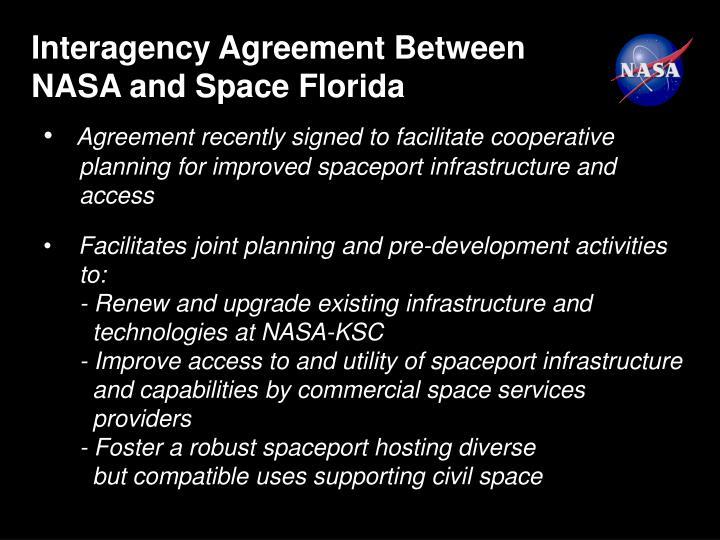 Interagency Agreement Between
