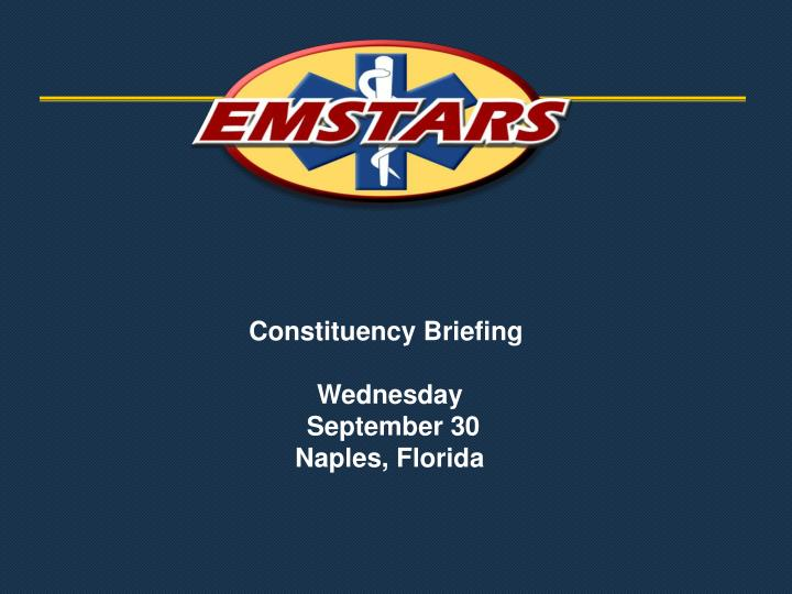 Constituency briefing wednesday september 30 naples florida
