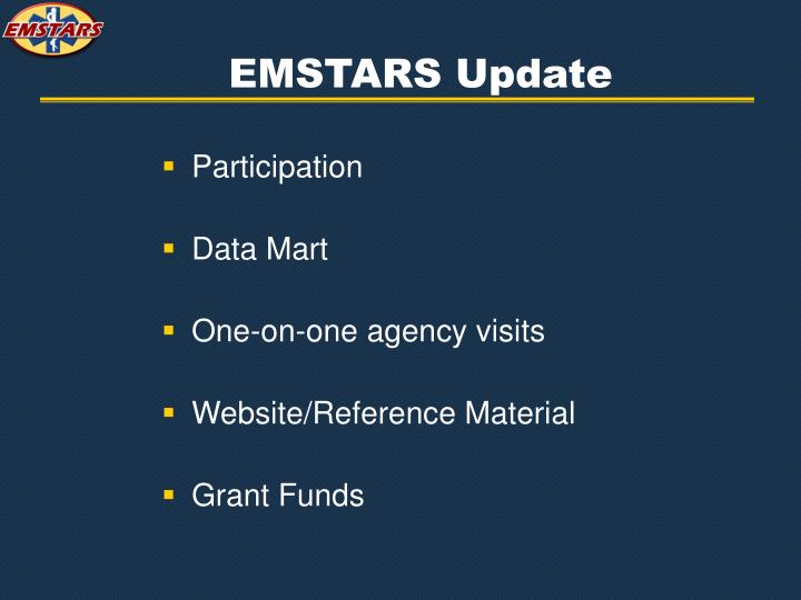EMSTARS Update