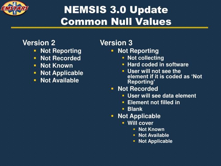 NEMSIS 3.0 Update