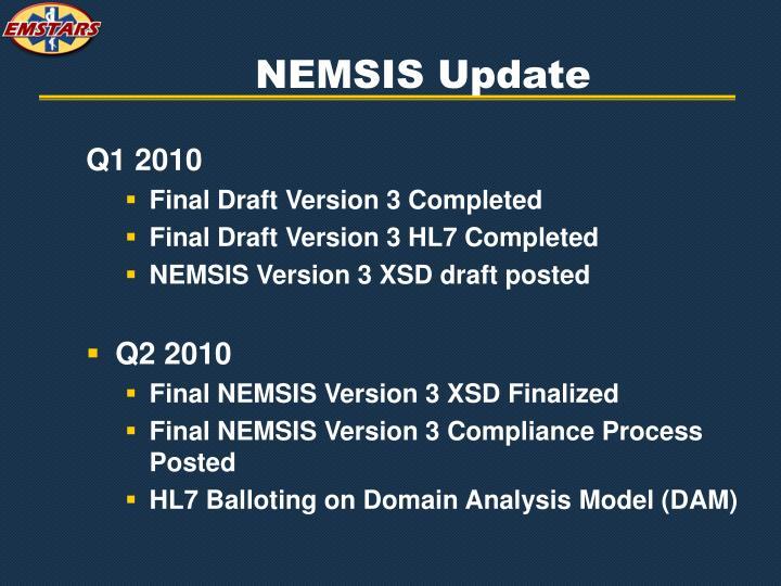 NEMSIS Update