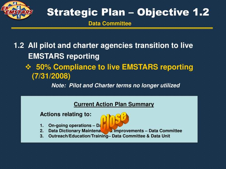 Strategic Plan – Objective 1.2