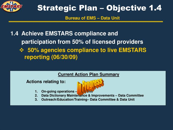 Strategic Plan – Objective 1.4